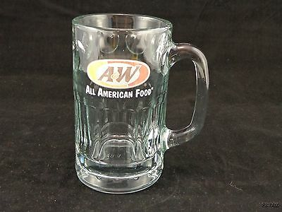 A&W All American Food Coin Spotted Heavy Glass Mug