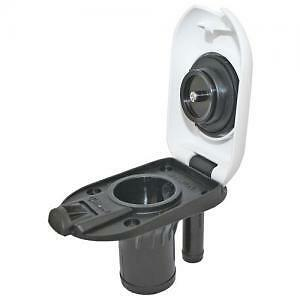 Deck Filler Fuel Filler Boat 38mm or 1 1/2'  Built in Breather White cap Attwood
