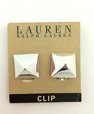 Ralph Lauren silver square earrings , Brand New With Tag