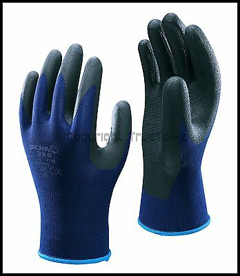 10 Pairs Showa 380 Nitrile Coated Foam Grip Nylon Safety Gloves Precision Work