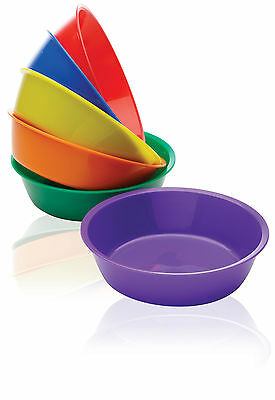 6 x Bowls for Sorting Counting Painting Number Games Quality Plastic