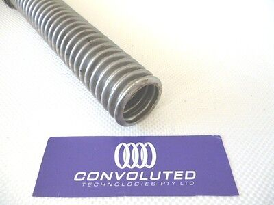 Convoluted flexible metal hose tubing 12mm or 1/2""
