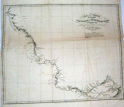 1828 Chart JOHN FRANKLIN 2nd Arctic Expedition Lake Superior to Lake Winnipeg