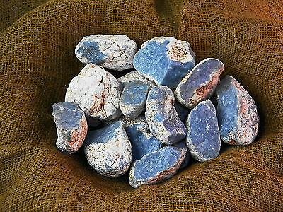 2000 Carat Lots of Rare High End Angelite Rough - Plus a FREE Faceted Gemstone