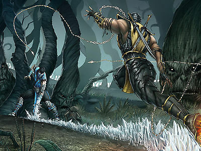 Scorpion - Mortal Kombat - Wall Poster - 20in x 30in ( Fast shipping  in Tube )