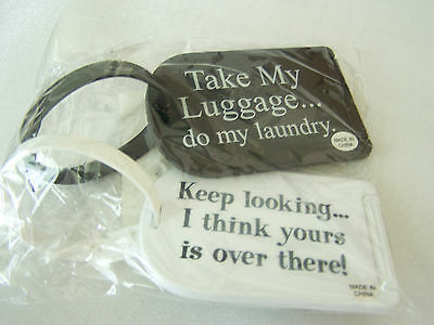 Novelty Luggage Tags Set of 2