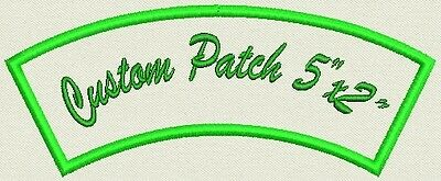 "Custom Embroidered Rocker, Name Tag, Biker Patch, badge 5"" x 2"""