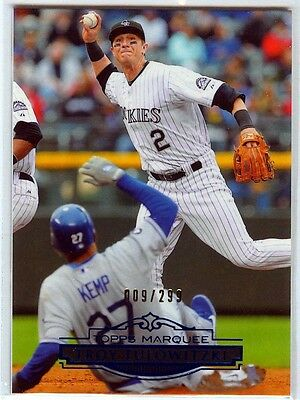 2011 Topps Marquee Blue Parallel #/299 - TROY TULOWITZKI [91] - Rockies