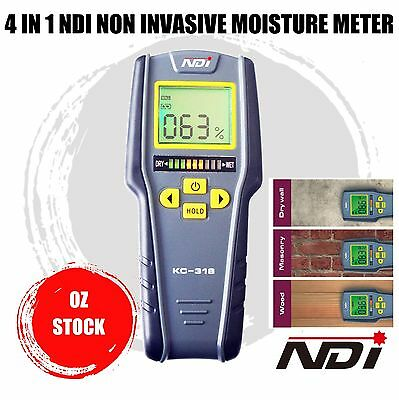 4 IN1 Moisture Meter Humidity LCD Tester Non-Intrusive Moisture Meter Hygrometer