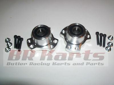 "Set of 2 Front Wheel Hubs, 5/8"" Racing Go Kart, Cart Stool Midget"