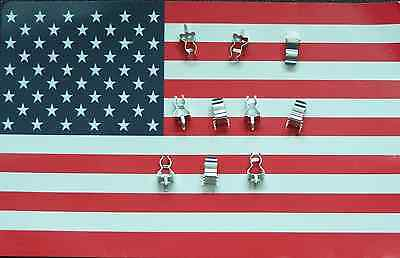 10pcs 5 pairs 5x20mm Fuse Holder Clips for PCB board mounting, US Seller