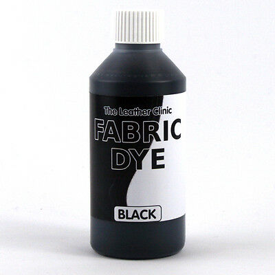 BLACK Liquid Fabric Dye for Sofa, Clothes, Denim, Shoes & Upholstery. Re-colours