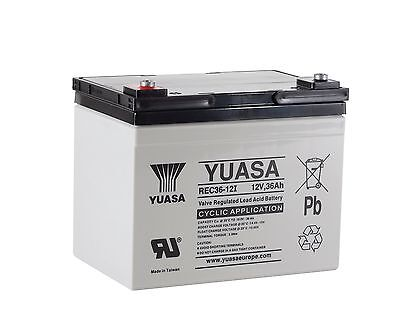 Yuasa REC36-12 Golf Trolly Battery, 12V 36AH, 36 Hole. AGM Cyclic
