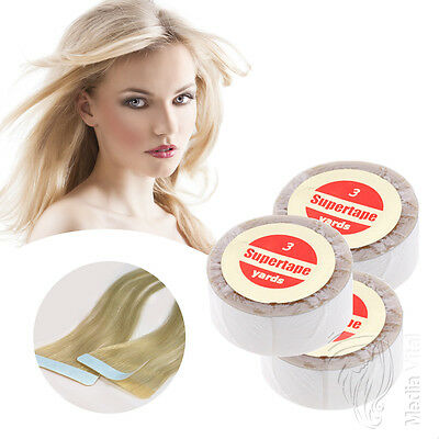 Supertape Tapeband Hair Extensions Echthaar Strähnen Strips Skin Weft 2,75mx1,9