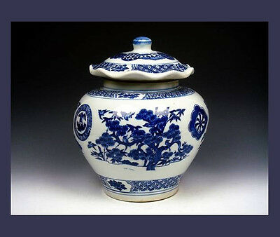Wu-Liang-Da-Pu Ginger Jar Excellent Condition Chinese blue/white - handpainted 1