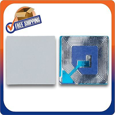 2000 Paper Security Labels 1.5X1.5 Inch Rf 8.2Mhz White Eas Checkpoint Compatib