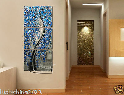 (No Framed)MODERN ABSTRACT CANVAS ART WALL DECOR OIL PAINTING-TREE L112
