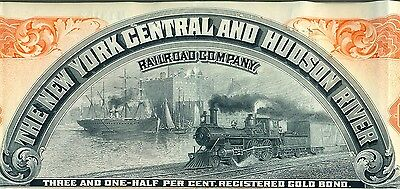 New York Central & Hudson River Railroad Bond Stock Certificate RR Lake Shore