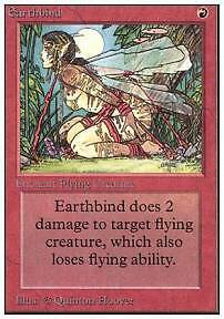 MTG UNLIMITED - EARTHBIND - Very Good - Excellent
