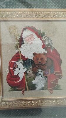 Lavender & Lace Santa of the Forest NIP Counted Cross Stitch Pattern Warmheart