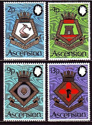 Ascension 1973 ** Mi.166/69 Schiffswappen Badges & Crests Royal Navy  [sq3395]