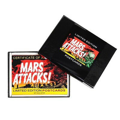 Topps Mars Attacks Factory Postcard Boxed Set Sealed Limited Edition Box
