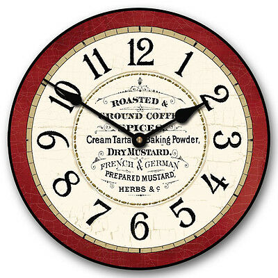 """Large wall Kitchen Pantry Clock, 12""""- 48"""" Whisper Quiet, Non-Ticking"""