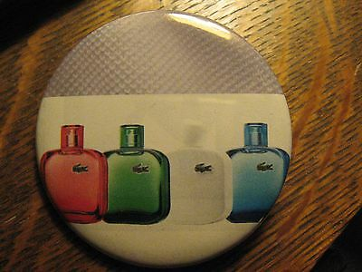 LaCoste Alligator Eau De Fragrance Bottle Advertisement Pocket Lipstick Mirror