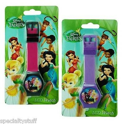 New Disney Fairies Lcd Watch Childrens Time Piece Tinkerbell (Mb)