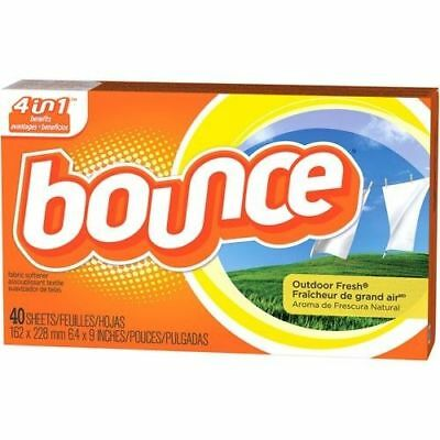 Bounce Dryer Sheets Outdoor Fresh Scent Fabric Softener 40 Ct Box
