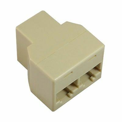 RJ45 1x2 ETHERNET Conector Ladron 1 a 2 Toma Internet Cable CAT5E CAT 5