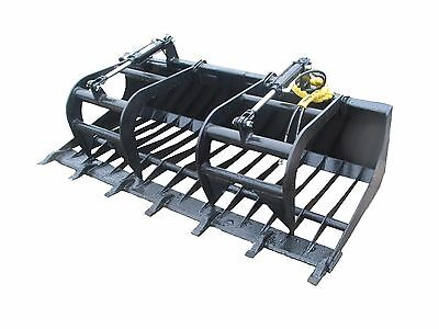 "72"" E-Series Bobcat New Rock Grapple Skidsteer Attachment Universal Quick Attach"