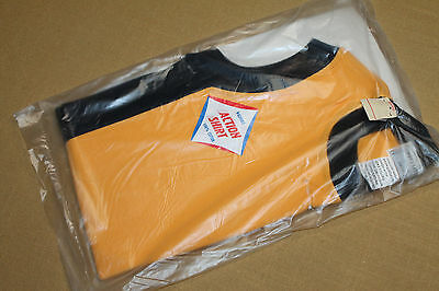 S * NOS in package vtg 70s blank yellow MUSCLE t shirt