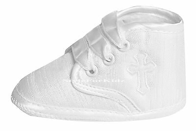 Baby Boys Christening Shoes White Ivory/cream Baptism Special Occasion Boots