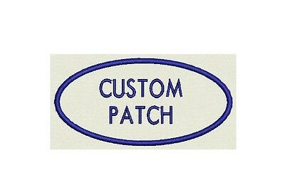 "Oval Custom Embroidered Name Tag, Biker Patch, badge  - 3.75""x1.75"""