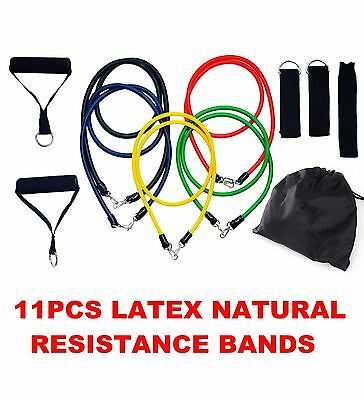 RESISTANCE BANDS Set 11PCS Heavy Duty Latex Band for yoga fitness Exercise