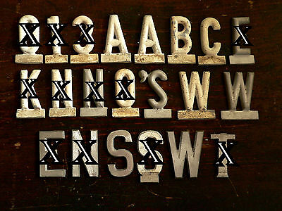 """Misc vintage house letter / numbers, cast aluminum, tablet base, rounded, 2.5""""t"""