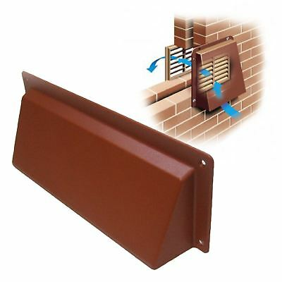 """9"""" x 3"""" Terracotta Hooded Cowl Vent Cover for Air Bricks Grilles Extractors"""