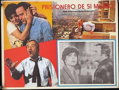 L018 PRISONER OF SECOND AVENUE original Mexican Lobby card 1975 Jack Lemmon
