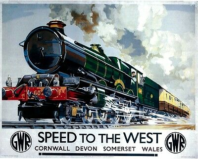 127 Vintage Railway Art Poster Speed To The West