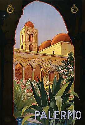 0260 Vintage Travel Poster Art Palermo
