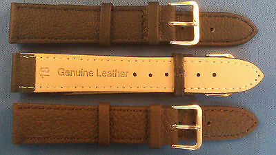 Black,Brown Genuine Leather Watch Strap Band Size 6,8,10,12,14,16,18,20,22,mm