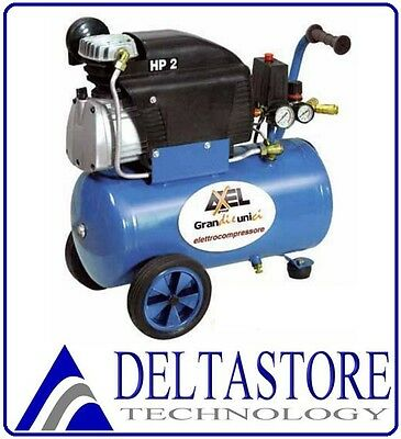 COMPRESSORE 24 LT 2HP LUBRIFICATO AXEL Made in Italy