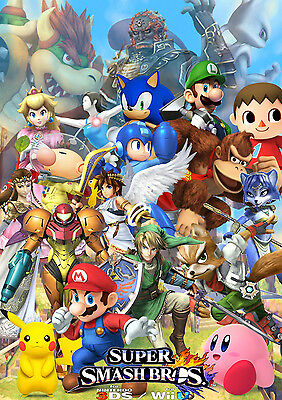 Super Smash Bro/'s Fast Shipping Huge Wall  Poster  15in x 24in in Tube 106