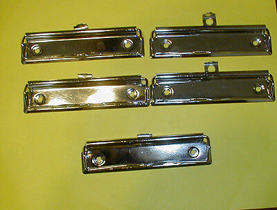 5 New Silver Colored Flat Metal Clips for (DIY) Make Your Own Clipboards