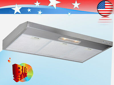 "Kitchen 36"" Under Cabinet Stainless Steel Range Hood Stove Vents Cooking Fan New"