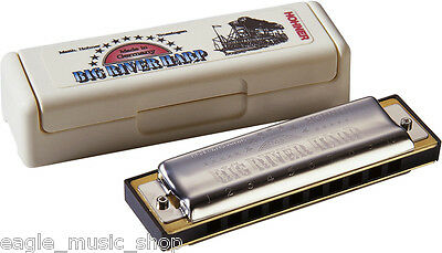Hohner 10 Hole Big River Diatonic Harmonica / Harp with Plastic Case