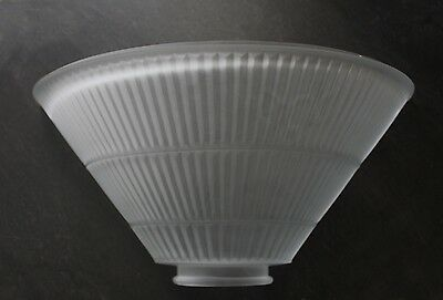 Vintage Art Deco Antique Sconce Slip Light Shade Frosted Glass Industrial