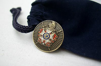 Masonic Order Of DeMolay Chapter Lapel Pin and Gift Pouch