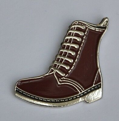 Cherry Red Boot Skinhead Mod Punk Enamel  Pin Badge